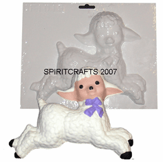 "LITTLE LAMB PLASTER CRAFTING MOLD (9.25"" x 7.25"")"