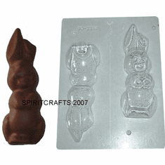 """LOP EARED BUNNY CHOCOLATE MOLD (7"""" HT)"""