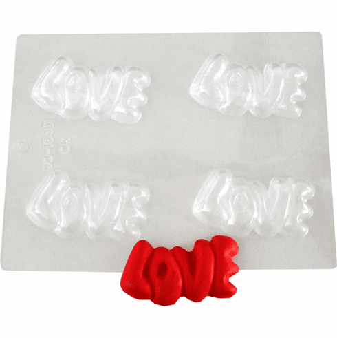 LOVE EMBED / CANDY MOLD (4 WELL)