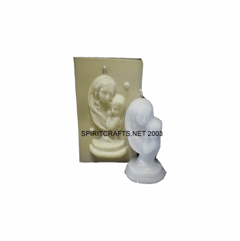 "MADONNA AND CHILD CANDLE MOLD</br> (5"" HT, 6 oz)"