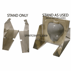 METAL CANDLE MOLD STAND, 2 PIECE