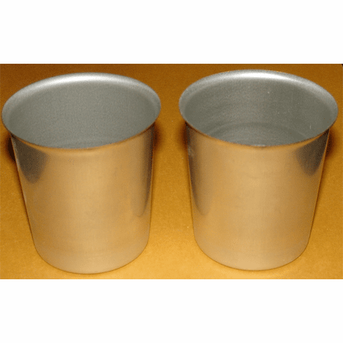 METAL VOTIVE CUP CANDLE MOLD, 2 OUNCE