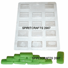 MINI BRICK OR THIN MINT CRAFT MOLD, 14 WELL