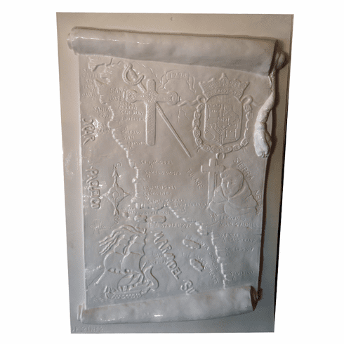 "MISSIONS OF CALIFORNIA MAP PLASTER MOLD (XL) (16"" x 24"")"