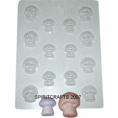 MUSHROOM EMBED / CANDY MOLD, 16 WELL