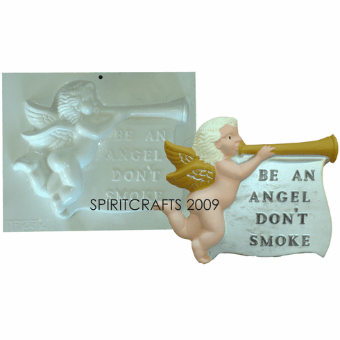 "NO SMOKING ANGEL PLASTER CASTING MOLD (11"" x 8.25"")"