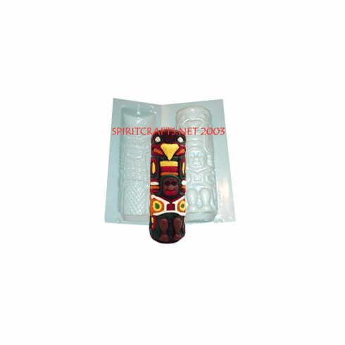 "NORTHWEST TOTEM POLE CANDLE MOLD (7"" HT, 14 oz)"