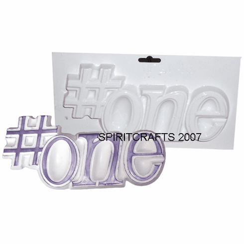 """NUMBER ONE WORD PLAQUE PLASTER MOLD (9.5"""" x 4.5"""")"""