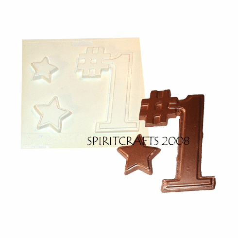 "ONE AND STARS PLASTER CRAFT MOLD (5"" HT)"