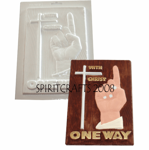 """ONE WAY WITH CHRIST PLASTER MOLD (6"""" x 8.5"""")"""