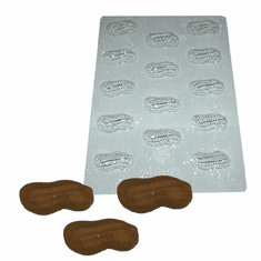 PEANUT HALF EMBED MOLD (14 WELL)