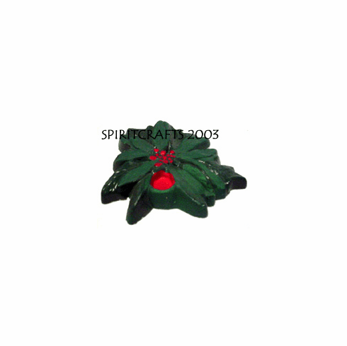 """POINSETTIA CANDLE HOLDER PLASTER MOLD (4.5"""")"""