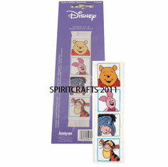 POOH AND FRIENDS CROSS STITCH BOOKMARK KIT