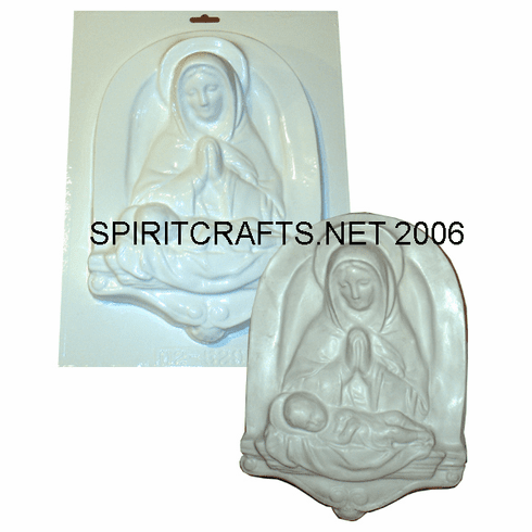"PRAYING MADONNA AND CHILD PLASTER MOLD (9"" x 12.25"")"