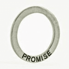 "PROMISE RING PENDANT, STERLING PLATED (1.125"" DIA)"