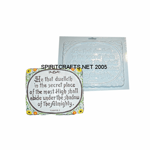 "PSALM 91:1 SMALL PLASTER MOLD (9 x 7.25"")"