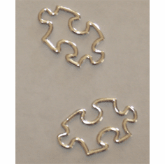 PUZZLE PIECE CHARMS, STERLING SILVER (25mm)