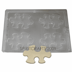 PUZZLE PIECE GUEST SOAP / CHOCOLATE MOLD (4 WELL)