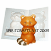 "RACCOON <BR>CANDLE MAKING MOLD<BR> (5"" HT, 9 oz)"