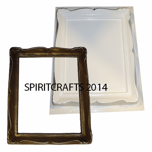 """RECTANGLE BUTTONHEAD FRAME PLASTER MOLD (10"""" x 11.5"""")"""