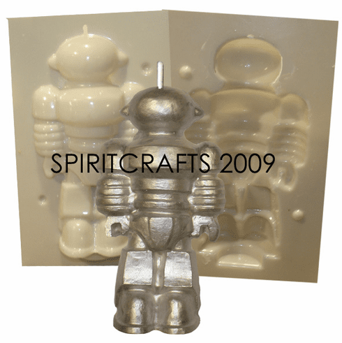 "ROBOT CANDLE MAKING MOLD (6"" HT x 3"")"