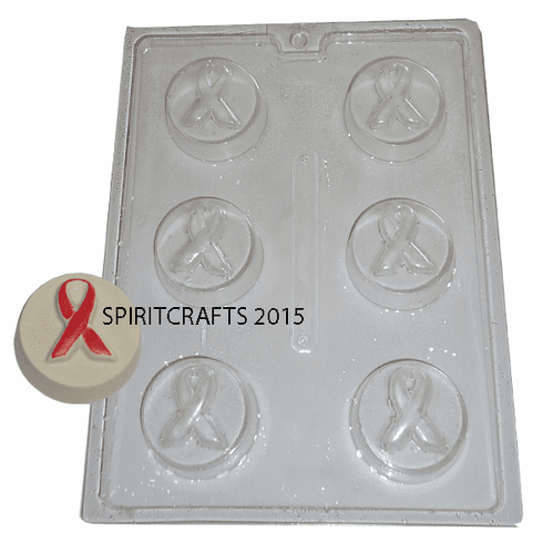 ROUND AWARENESS RIBBON SOAP MOLD (6 WELL)