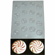 ROUND MINTS CANDLE EMBED / CANDY MOLD (16 WELL)