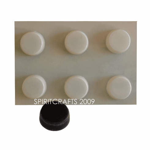 ROUND SOAP BARS MOLD,  6 WELL