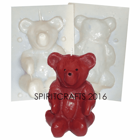 """RUSTIC TEDDY BEAR <BR>CANDLE MAKING MOLD<BR> (5.5"""" HT, 1 lb 2 oz)"""