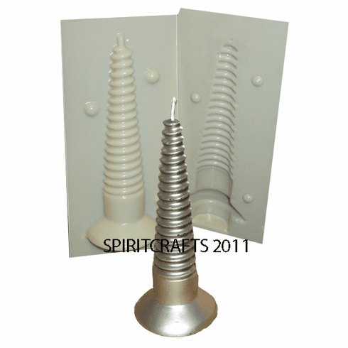 "SCREW CANDLE MAKING MOLD (6"" HT, 3 oz)"