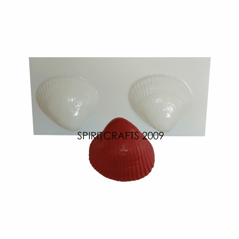 """SHELL SOAP MAKING MOLD, 2 WELL (3"""" x 1 1/8"""")"""