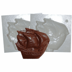 """SHIP CANDLE MAKING MOLD (4.5"""" HT, 13 oz)"""