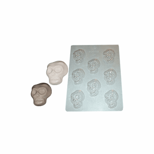 "SKULL CANDLE EMBED / CANDY MOLD (2.25"" x 1.25"")"