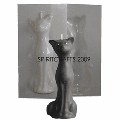 """SMALL / ALTAR SIZE TALL CAT CANDLE MOLD (5.25"""" HT)"""