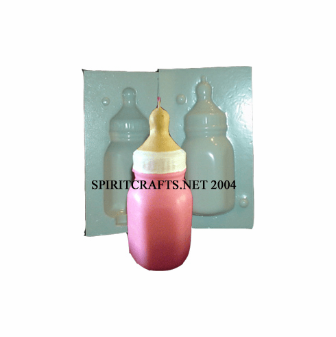 """SMALL BABY BOTTLE CANDLE MOLD (5.25"""" HT, 8 oz)"""