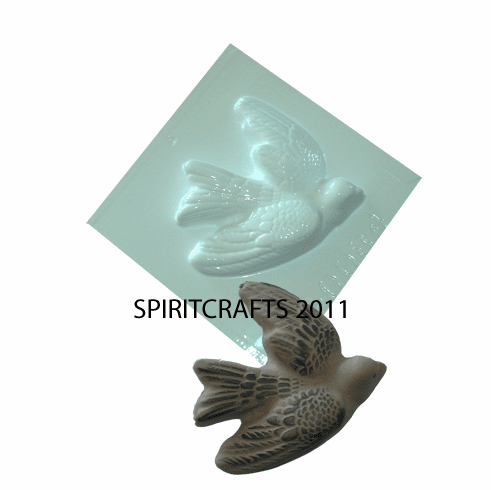"SMALL FLYING BIRD PLASTER CASTING MOLD (3.75"" x 3.5"")"