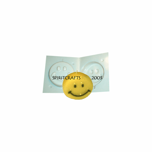 """SMALL HAPPY FACE CANDLE MOLD (3.25"""" HT, 7 oz)"""