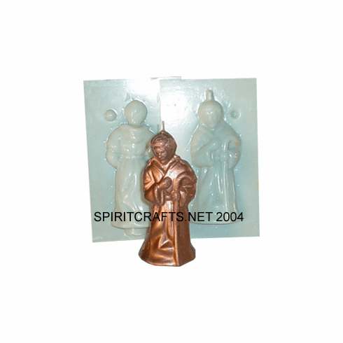 "SMALL JOSEPH </br>RELIGIOUS CANDLE</br> MOLD (4.25"" HT, 3 oz)"