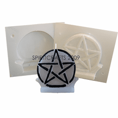 """SMALL PENTACLE CANDLE MAKING MOLD (5.25"""" HT)"""