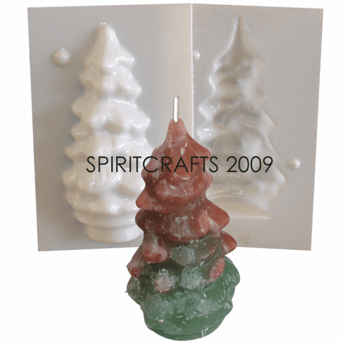 "SMALL PINE TREE CANDLE MAKING MOLD (5"" HT, 4.25 oz)"