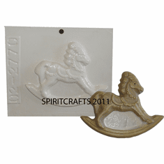 "SMALL ROCKING HORSE PLASTER MOLD (4.25"" x 3.25"")"