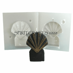 """SMALL SEASHELL <br> CANDLE MAKING <br> MOLD (2.5"""" HT, 2 oz)"""