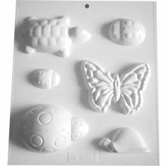 SOAP MOLD, BUTTERFLY, TURTLE AND LADYBUGS