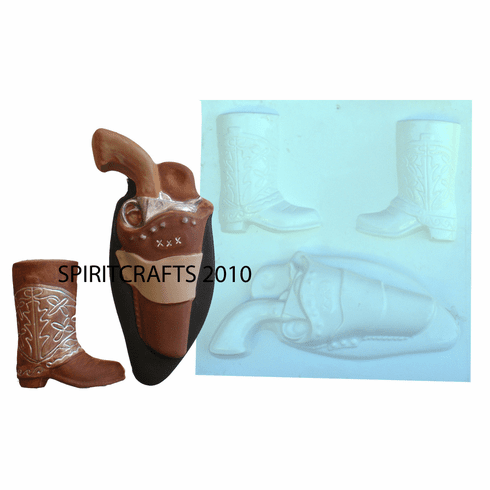 SOUTHWEST BOOTS AND PISTOL MOLD, 3 on 1