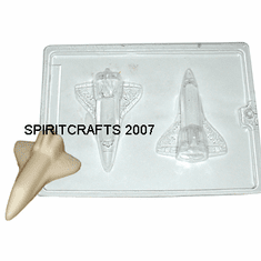 "SPACE SHUTTLE SOAP OR CANDY MOLD (4.75"" x 3.25"")"