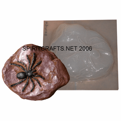 """SPIDER ON ROCK CONCRETE CASTING MOLD (6"""" x 7"""")"""