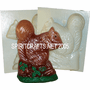 "SQUIRREL<BR> CANDLE MAKING MOLD<BR> (6.75"" HT, 1 lb 6 oz)"