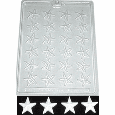 STAR CANDLE SOAP EMBED MOLD, 24 WELL