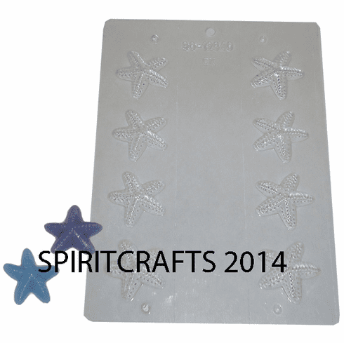 STARFISH (8 WELL) CANDY / WAX EMBED / SOAP MOLD