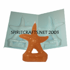 """STARFISH CANDLE<br> MAKING MOLD<br> (6"""" HT, 8.25 oz)"""